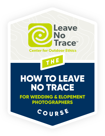 The How to Leave No Trace for WEdding and Elopement Photographers logo