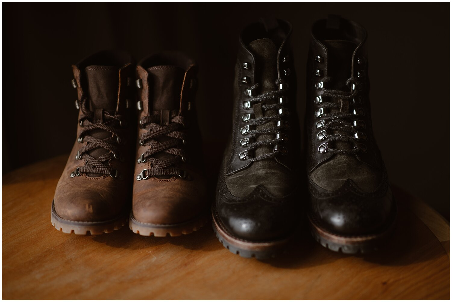 Two pairs of boots.