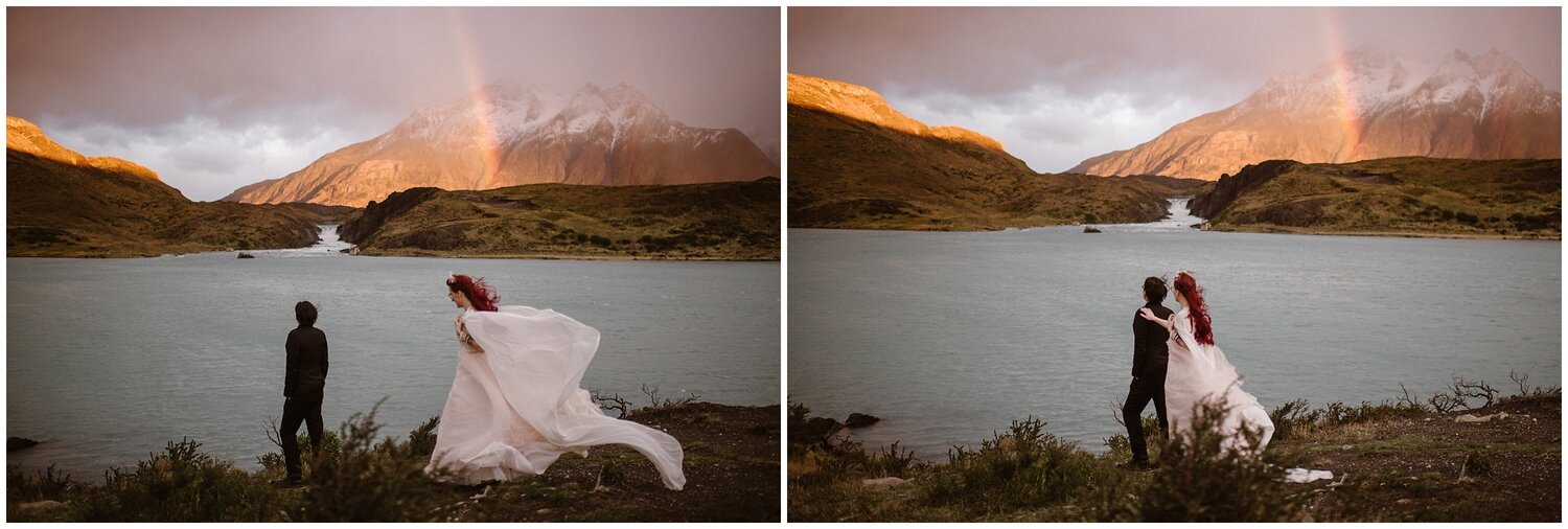 First look on a Patagonia landscape.