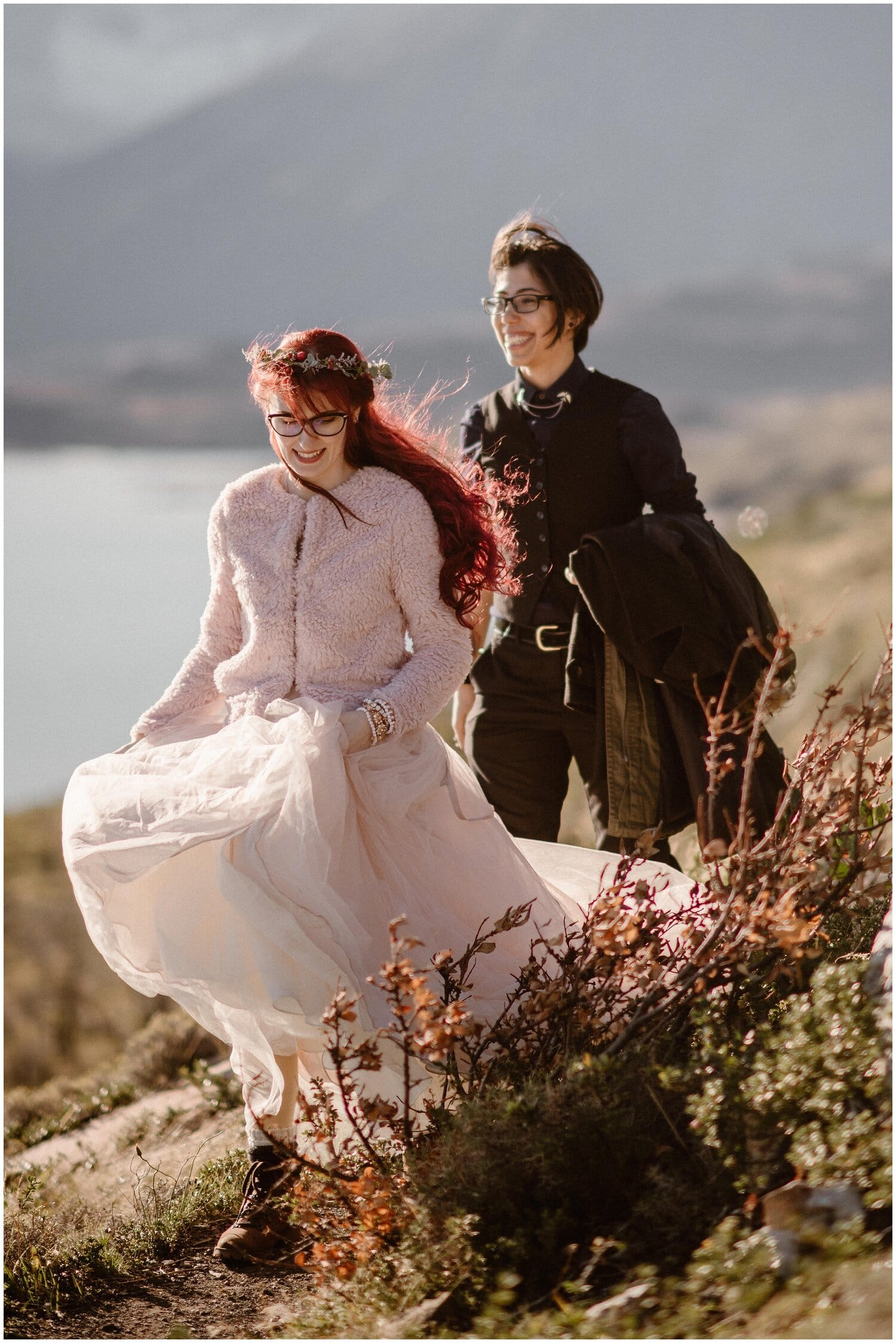 Couple explores Patagonia.