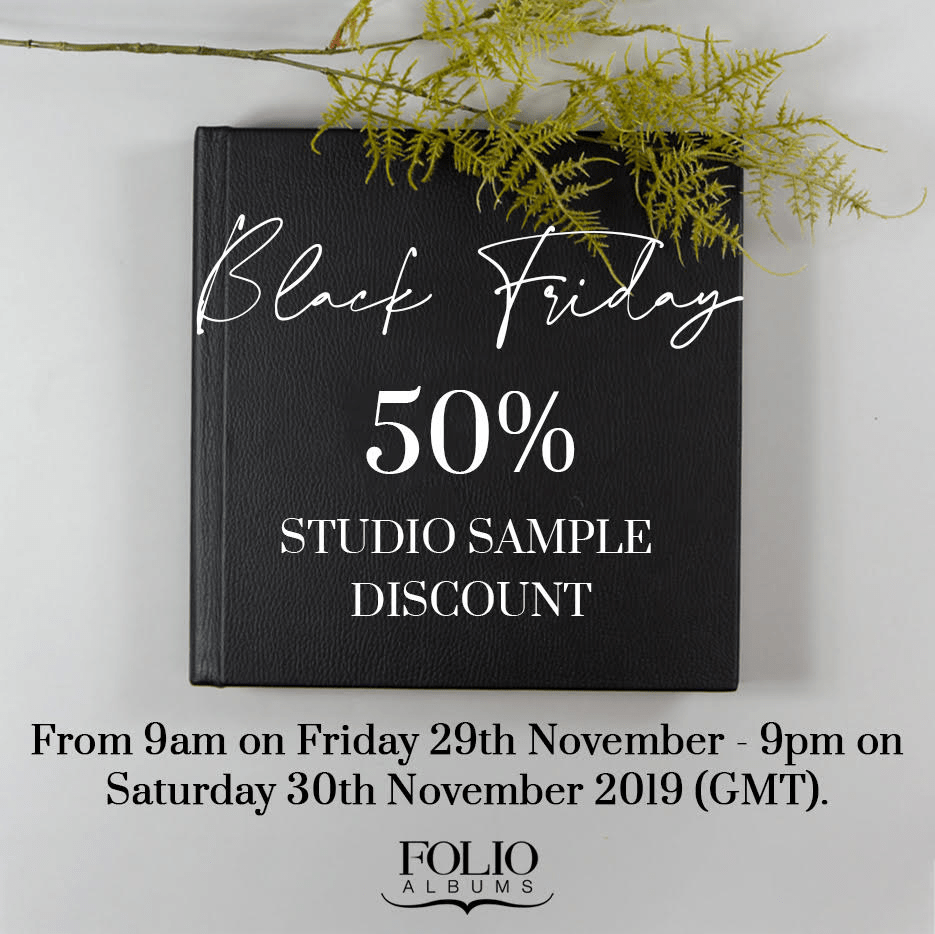 Flyer of a Black Friday Deal for Folio Albums.