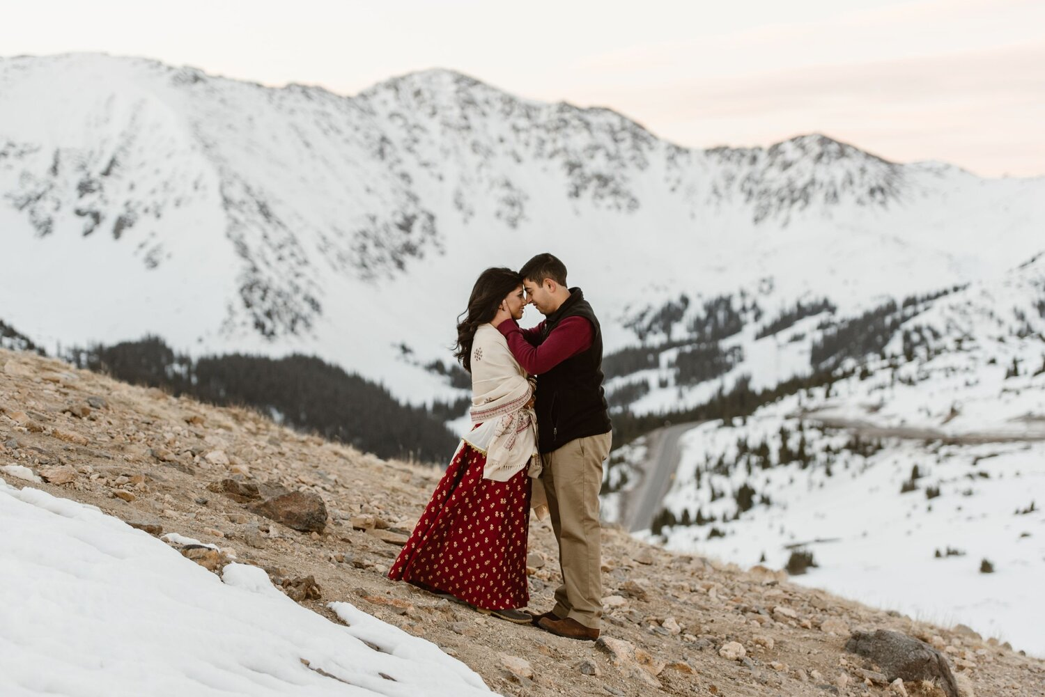 Couple get married on Loveland Pass in Silverthorne Colorado!