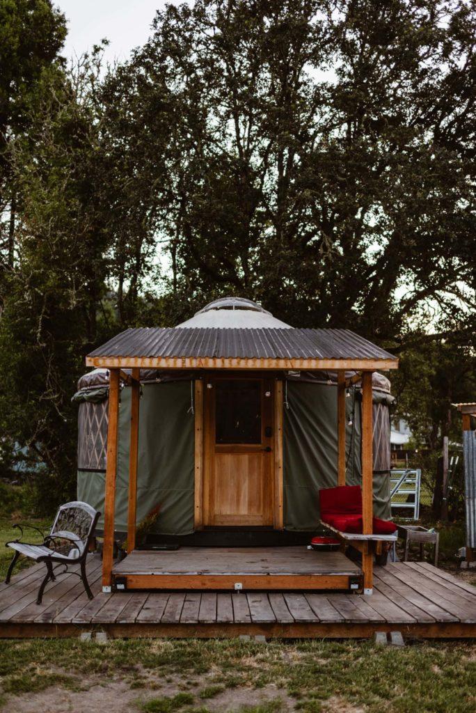 A yurt located in Oregon.